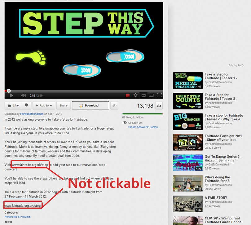 how to make a link clickable